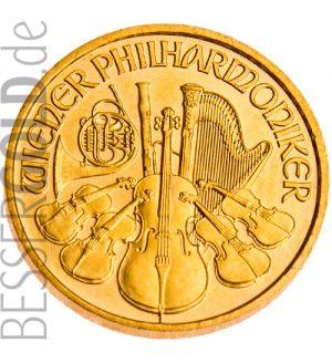 Wiener Philharmoniker 110 Unze Goldmünze 99991000 Feingold