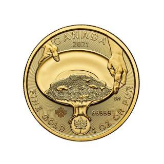 Goldmünze Klondike Goldrausch Goldwäsche 1 oz Kanada 2021