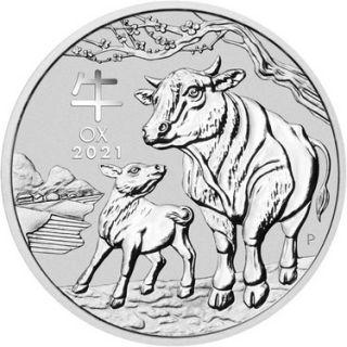 Silbermünze Lunar Serie III OCHSE 10 kg Australien 2021