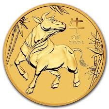 Goldmünze Lunar Serie III OCHSE 1/4 oz Australien 2021