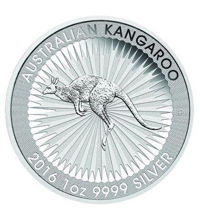 Kangaroo 1 oz Feinsilber im Blister (Australien) - Motivseite 265 px
