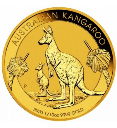 Goldmünze KANGAROO 1/10 oz Australien 2020