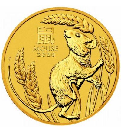 Goldmünze Lunar Serie III MAUS 1/10 oz Australien 2020