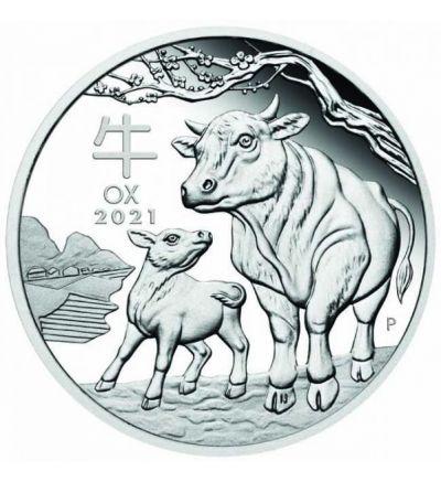 Silbermünze Lunar Serie III OCHSE 1 oz Australien 2021
