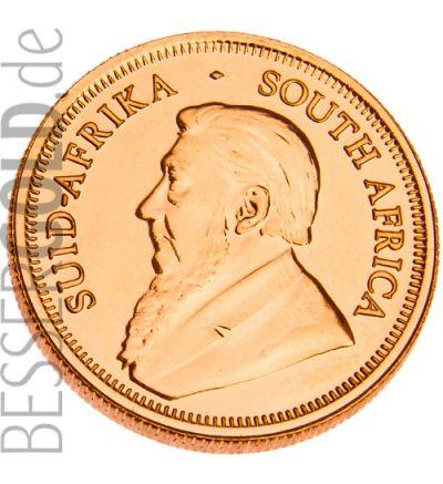 Krügerrand 1/4 Feinunze Gold (Südafrika) - aktueller Jahrgang - Portraitseite 265px