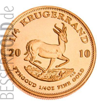 Krugerrand 1/10 Feinunze Gold (Südafrika) - aktueller Jahrgang - Portraitseite - 2 px