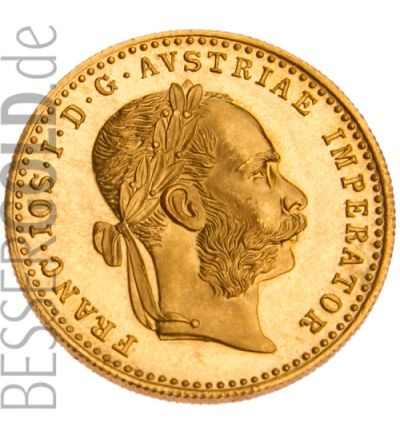 1 Dukaten Goldmünze Österreich - Portraitseite - 265px