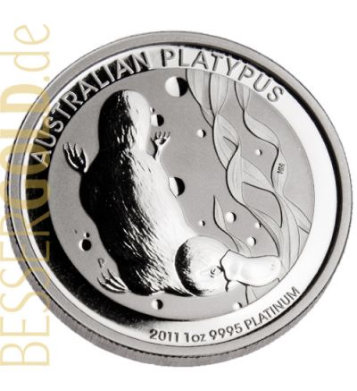 Platypus • 1 Feinunze Platin • 999,5/1000 • The Perth Mint (Australien) • Platypus