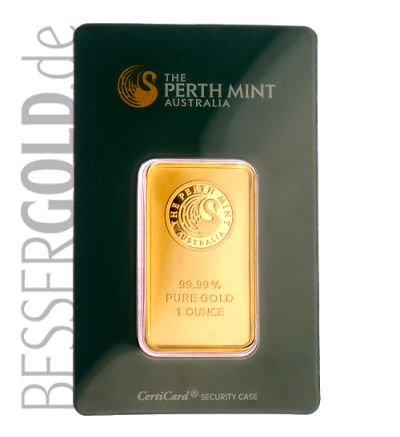 Goldbarren 1 oz PERTH MINT Australien