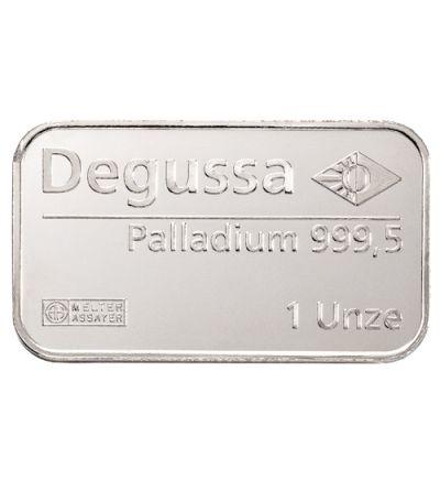 Palladiumbarren 1 Feinunze • 999,5/1000 • ARGOR-HERAEUS S.A. • (Schweiz)