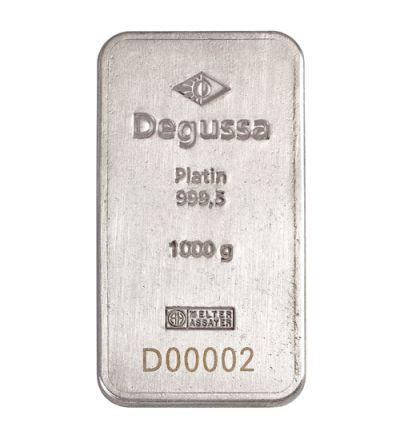 Platinbarren 1 Kilogramm • Umicore • 999,5/1000 • Vorderseite • 265px