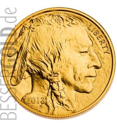 American Buffalo aktueller Jahrgang • 1 Unze Goldmünze • 999,9/1000 Feingold • (USA) • Büffelseite 265 px