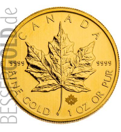 Maple Leaf 2013 • 1 Feinunze Gold • 999,9/1000 • (Kanada) • Ahornblatt-Seite 265px