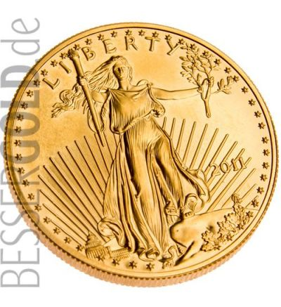 American Eagle • 1 Feinunze Gold • 916,67/1000 • (USA) •  Adler-Seite • aktueller Jahrgang - 265 px
