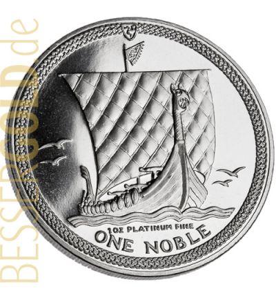 Noble Isle of Man • 1 Feinunze Platin • 995/1000 • Großbritannien • Wikingerschiff-Seite