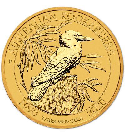 Kangaroo / Nugget • 1/10 Feinunze Gold • 999,9/1000 • (Australien) • Känguruh-Seite