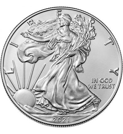 American Eagle • 1 Feinunze Silber • 999/1000 • (USA) • Eagle-Seite - 265 px