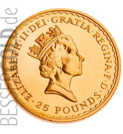 Britannia • 1/4 Feinunze Gold • 916,67/1000 • (Großbritannien) • Motivseite 265px • bis 2012