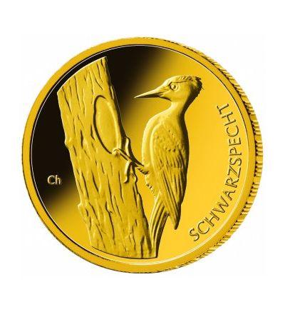 Goldmünze 20 EURO 1/8 oz (Dtschl. 2021 Schwarzspecht