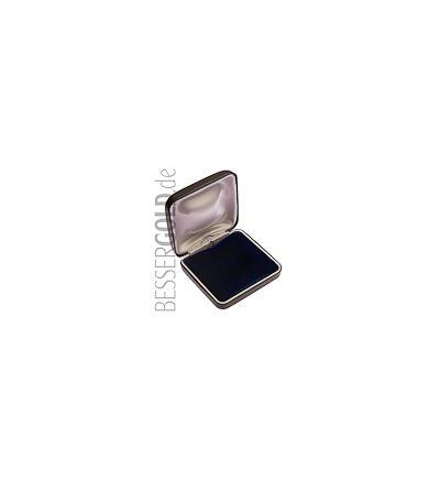 Münzetui • schwarz • Krokodilleder-Optik • 60x60mm