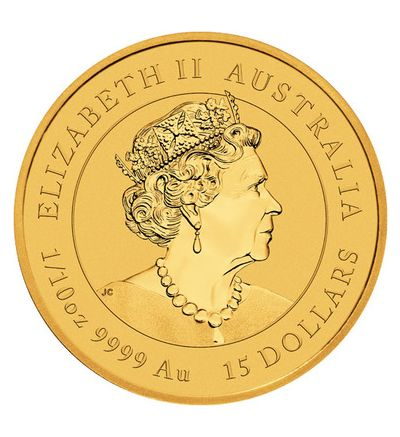 Goldmünze Lunar Serie III OCHSE 1/10 oz Australien 2021