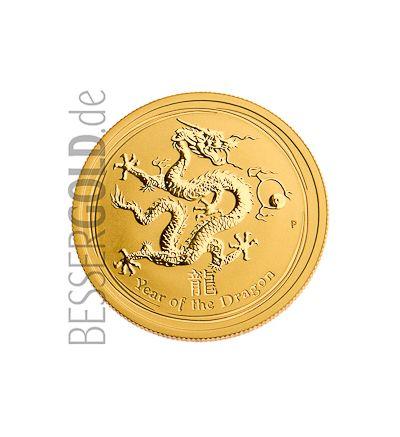 Lunar-Serie II Drache 2012 1/10 oz Gold (Australien) • Drachenseite • 265px