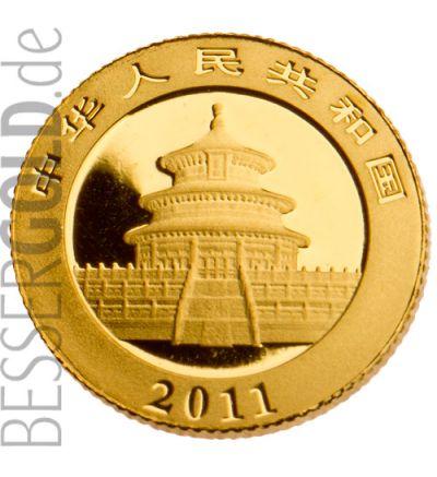 Panda 1/10 Feinunze Gold 2011 (China) • Panda-Seite