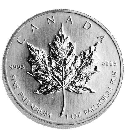 Maple Leaf • 1 Feinunze Palladium • 999,5/1000 • (Kanada) - Ahornblatt-Seite-265px