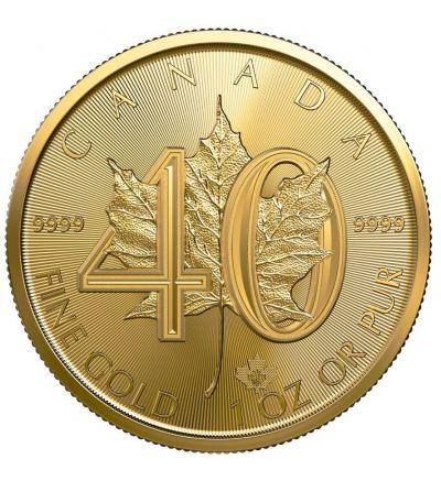 Goldmünze MAPLE LEAF 1 oz Jubiläum 40 Jahre Kanada 2019