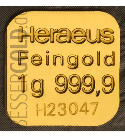 Heraeus Multicard 10x1g Feingold - Vorderseite 265px