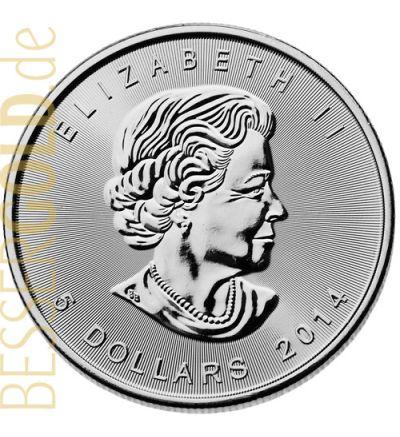 Maple Leaf 1 oz Feinsilber (Kanada) - aktueller Jahrgang - Motivseite 265px
