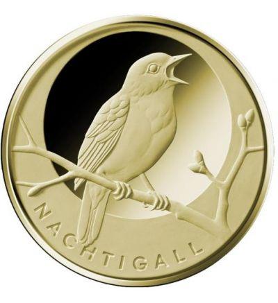 Goldmünze 20 EURO 1/8 oz (Dtschl. 2016 Nachtigall) mit Schat.