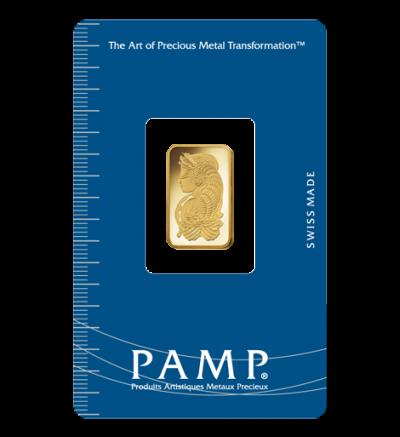 Goldbarren 5 Gramm Heraeus • 999,9/1000 • Vorderseite im Blister • 500px