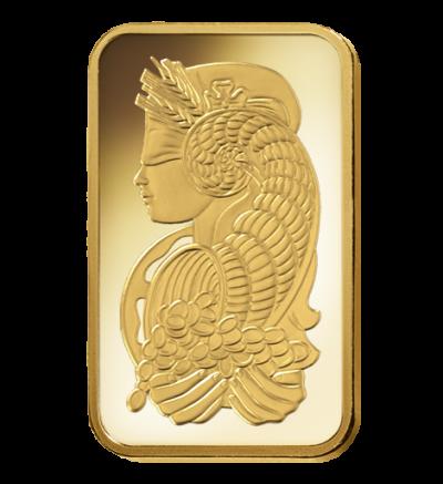 Goldbarren 1 Feinunze Heraeus • Feinheit 999,9/1000 • Vorderseite im Blister - 500px