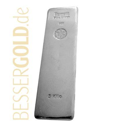 Silberbarren 5000 Gramm • 999/1000 • Heraeus (Deutschland)