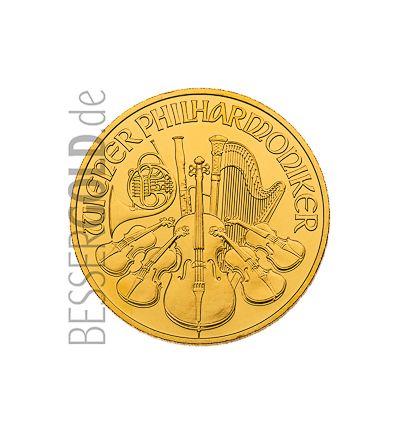Wiener Philharmoniker 1/2 Feinunze Gold - aktueller Jahrgang - Instrumentenseite - 265px